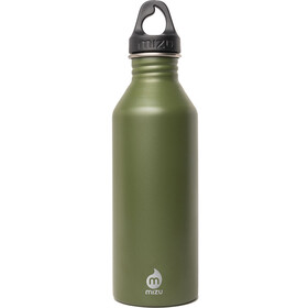 MIZU M8 Flasche with Black Loop Cap 800ml enduro army